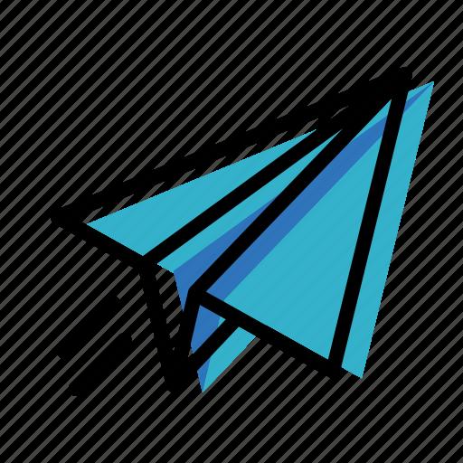 message, paper plane, telegram icon