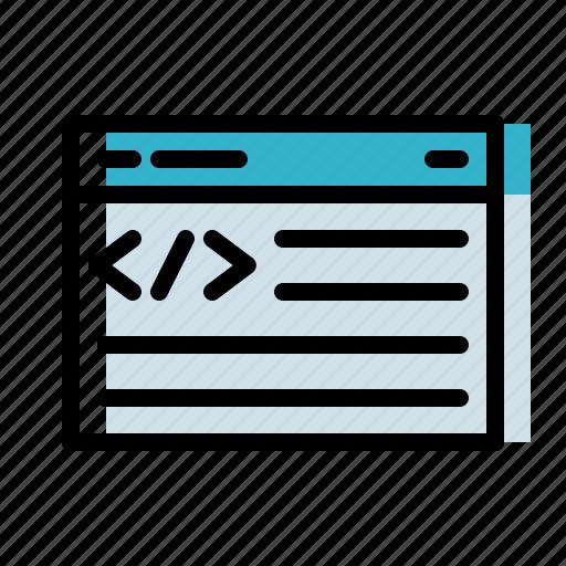 code, coding, developer, html, website icon