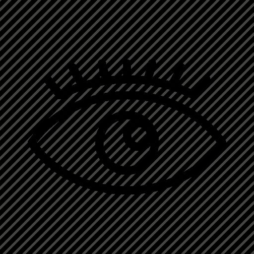 developer, eye, internet, web icon