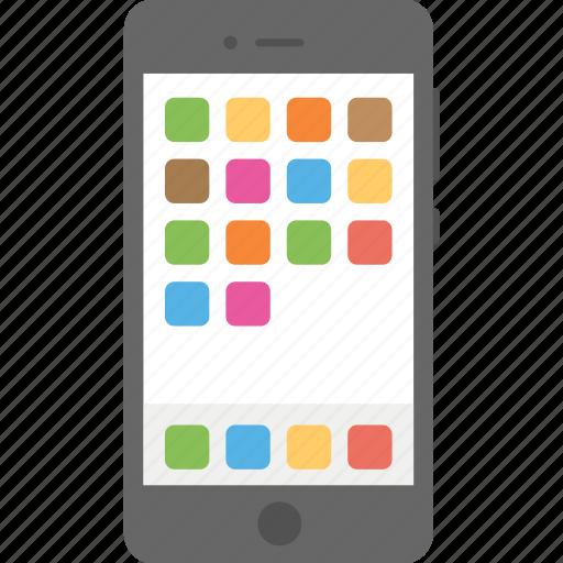 iphone menu screen, mobile interface, mobile menu screen, mobile ui, mobile ux icon