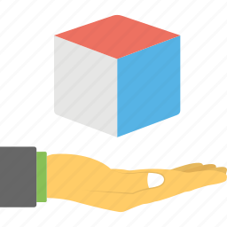 three dimensional technology, virtual technology services icon