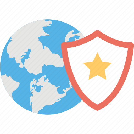 antivirus, global protection, global shield, globe and shield, save the world icon