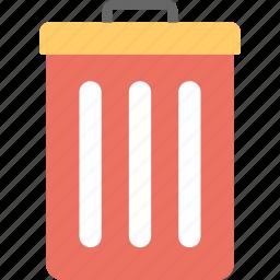dustbin, garbage can, trash can, wastebasket, wastebin icon
