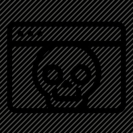browser, dead, web icon