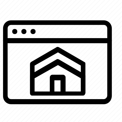 browser, home, house icon