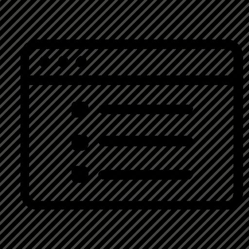browser, checklist icon
