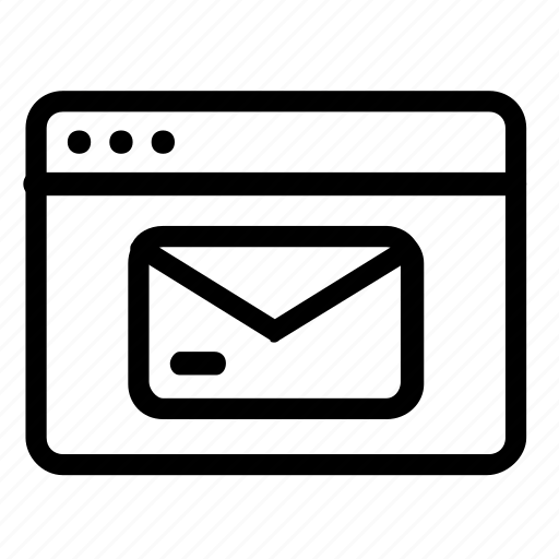 browser, envelope, mail, message icon