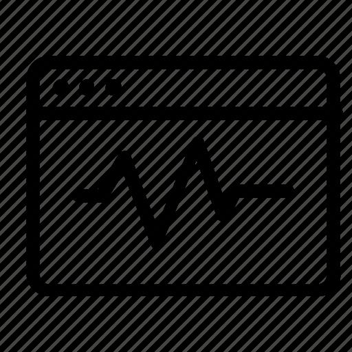 browser, dashboard, statistics, web icon