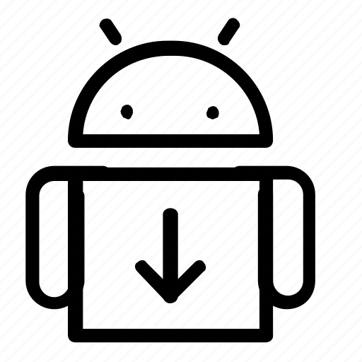 android, download, interface, system icon