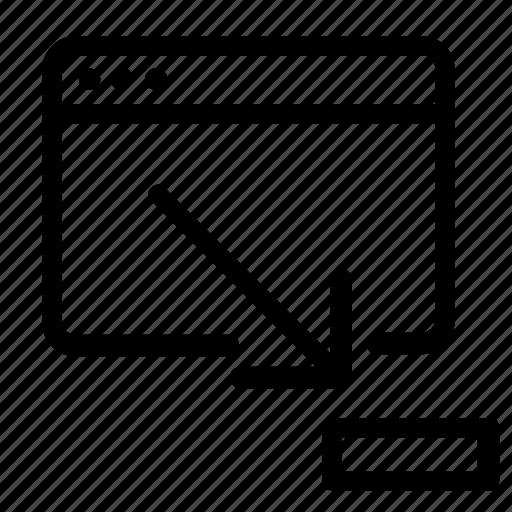 browser, minimize, web icon