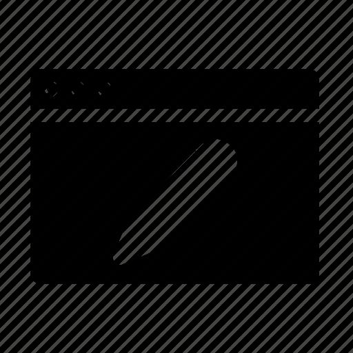 edit, webpage, website, window icon