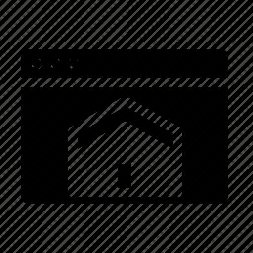 home, webpage, website, window icon
