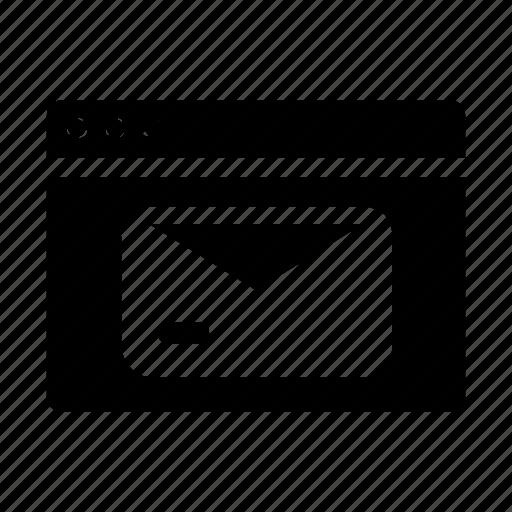 mail, webpage, website, window icon