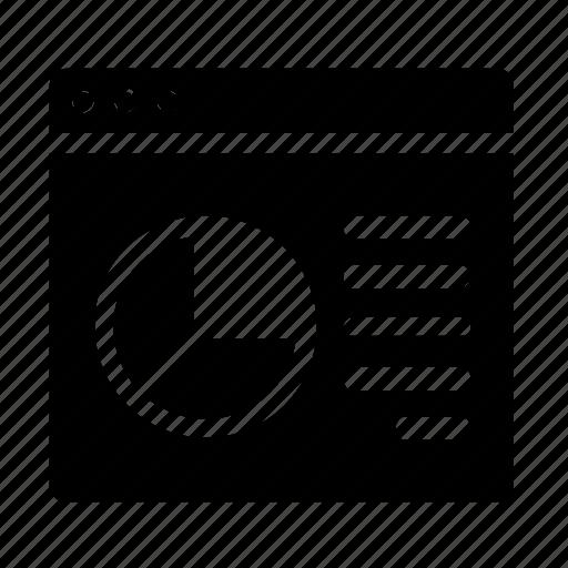 chart, webpage, website, window icon