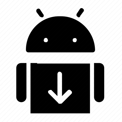 android, download, interface, software icon