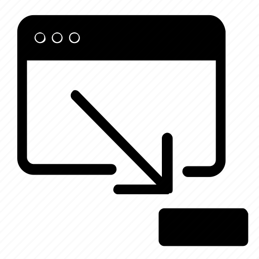 minimize, webpage, website, window icon