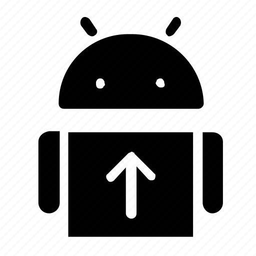 android, interface, system, upload icon