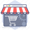 cart, development, market, shop, shopping, store, web page icon