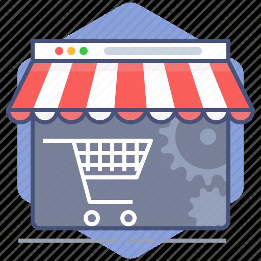 cart, development, market, shop, shopping, store, web page icon