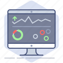 analysis, charts, dashboard, development, manage, management, pc icon