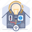 bulb, control, development, house, manage, management, wireless icon