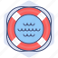 aid, assistance, development, help, support, swimming, yumminky icon