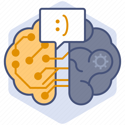 artificial intelligence, brain, computer, development, mechanization, message, robot icon