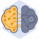 artificial intelligence, brain, computer, development, mechanization, robot, thoughts icon