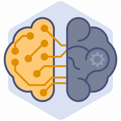 artificial intelligence, brain, computer, development, mechanization, robot, thoughts icon