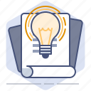 bulb, development, document, documentation, help, manual icon