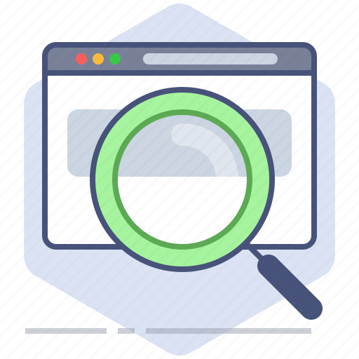 browser, development, engine, lens, magnifying glass, search, web, yumminky icon