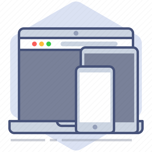 development, devices, notebook, phone, responsive, tablet, yumminky icon