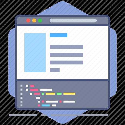 browser, code, coding, developer, development, html, yumminky icon