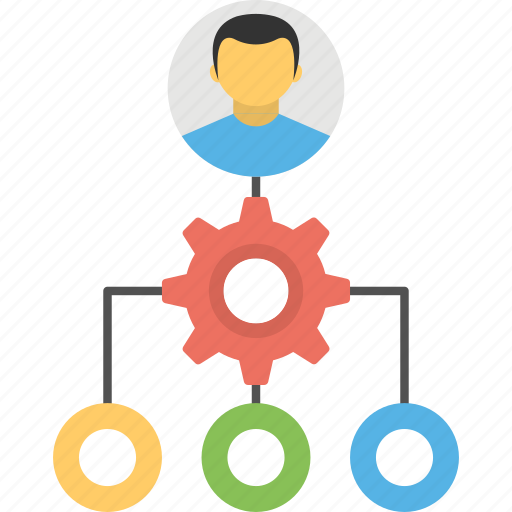network administrator, network analyzer, network management, network technician, system administrator icon