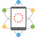 cellular network, communication network, mobile communication, mobile internet, mobile network icon