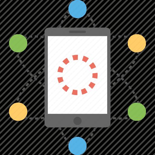 cellular network, communication network, mobile communication, mobile internet, mobile network icon