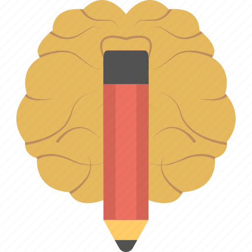 creative brain, effective thinking, innovation, invention, knowledge icon