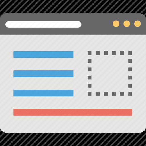 web design, web development, web layout, website template, website wireframe icon