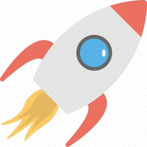 aircraft, missile, rocket, rocket launch, startup concept icon