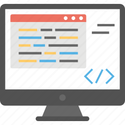 html, source code, web coding, web development, web programing icon