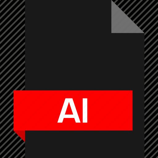 ai file, extension, file, name icon