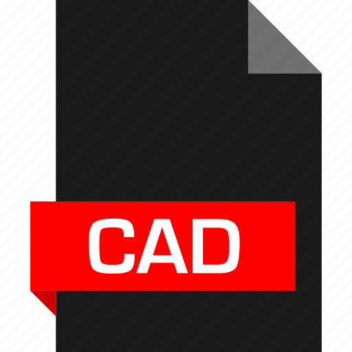 cad, extension, file, name icon