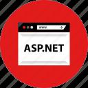 aspnet, code, development, script, web icon