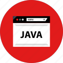 code, development, java, web icon