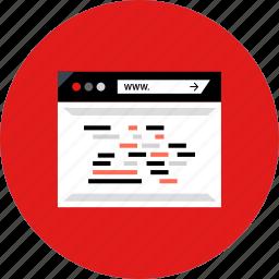 code, development, lines, of, web icon