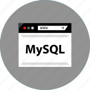 code, development, mysql, web icon