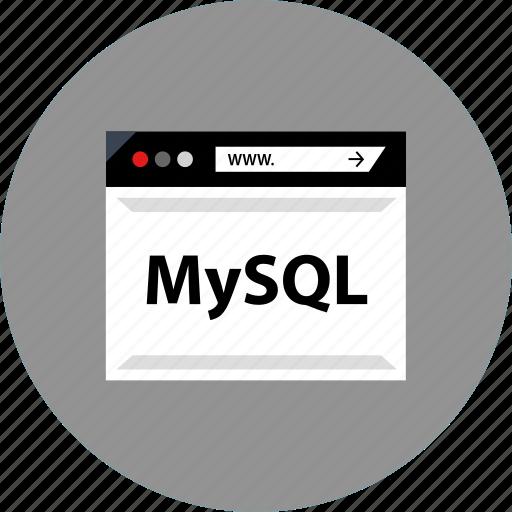code, development, mysql, web icon