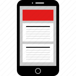 internet, online, phone icon
