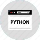 code, development, python, web icon