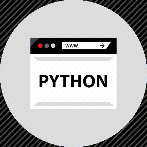 code, development, python, web icon